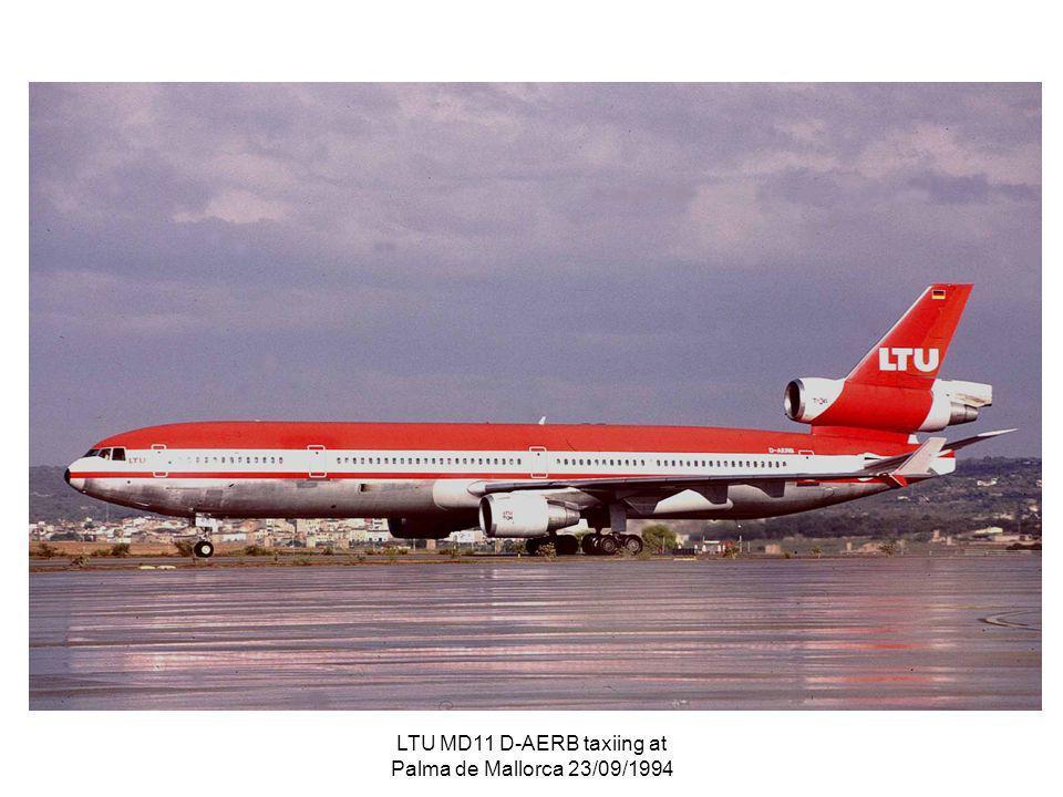 LTU MD11 D-AERB taxiing at Palma de Mallorca 23/09/1994