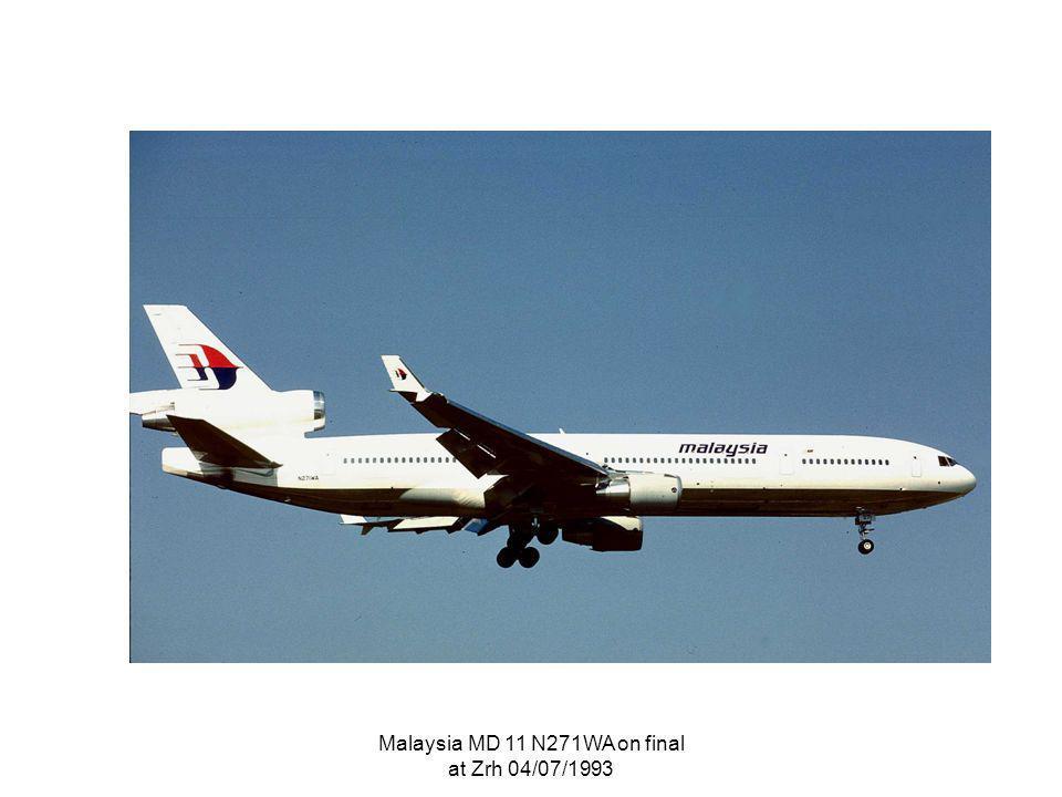 Malaysia MD 11 N271WA on final at Zrh 04/07/1993
