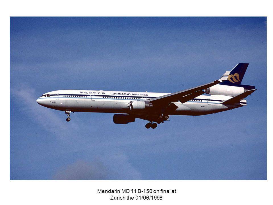 Mandarin MD 11 B-150 on final at Zurich the 01/06/1998