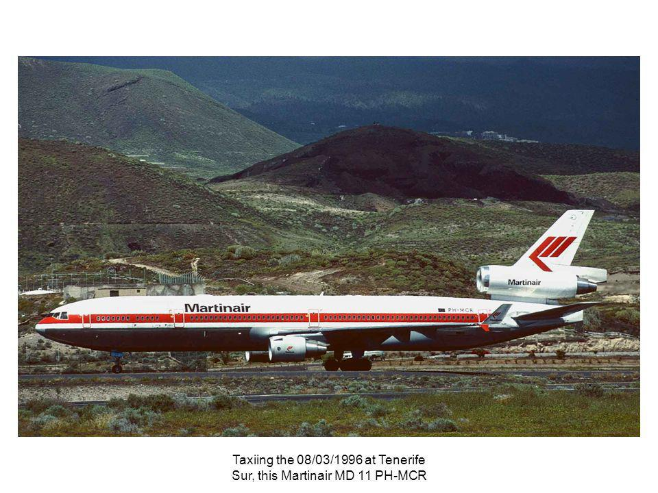 Taxiing the 08/03/1996 at Tenerife Sur, this Martinair MD 11 PH-MCR