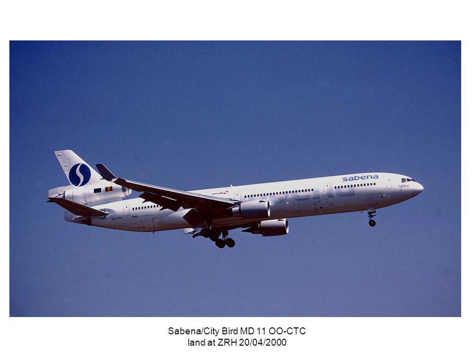 Sabena/City Bird MD 11 OO-CTC land at ZRH 20/04/2000