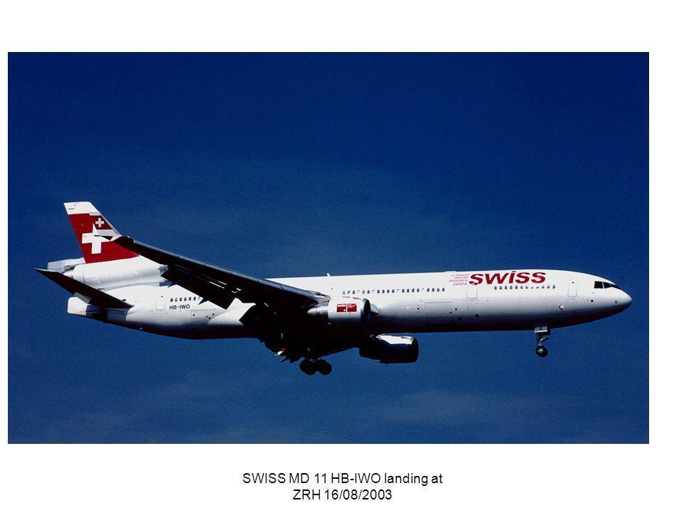 SWISS MD 11 HB-IWO landing at ZRH 16/08/2003