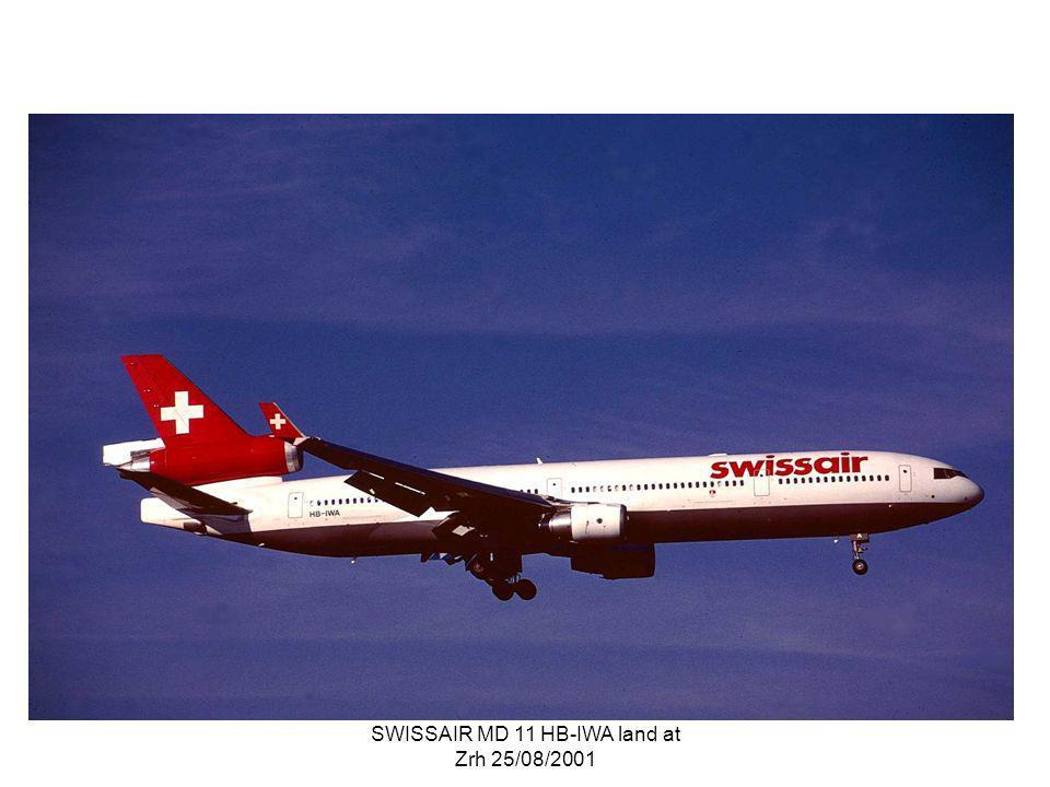 SWISSAIR MD 11 HB-IWA land at Zrh 25/08/2001