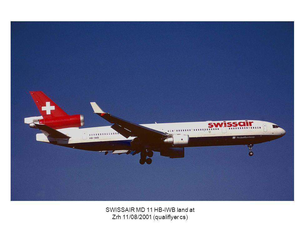 SWISSAIR MD 11 HB-IWB land at Zrh 11/08/2001 (qualiflyer cs)