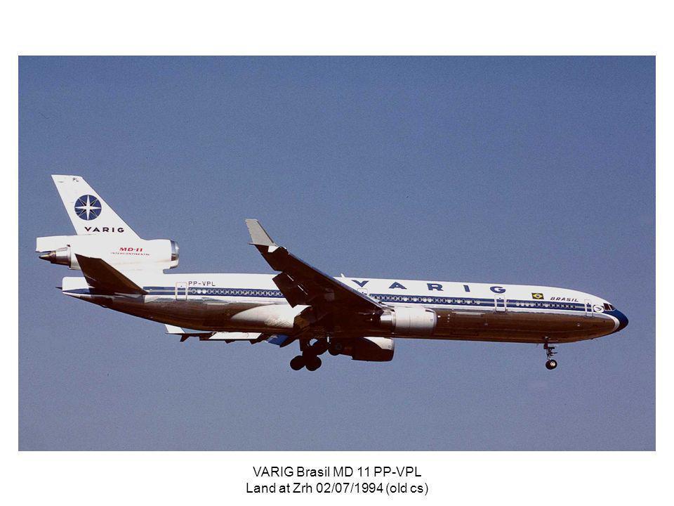 VARIG Brasil MD 11 PP-VPL Land at Zrh 02/07/1994 (old cs)