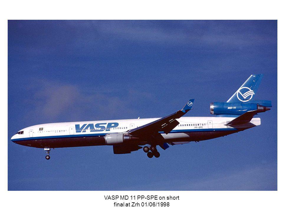 VASP MD 11 PP-SPE on short final at Zrh 01/06/1998
