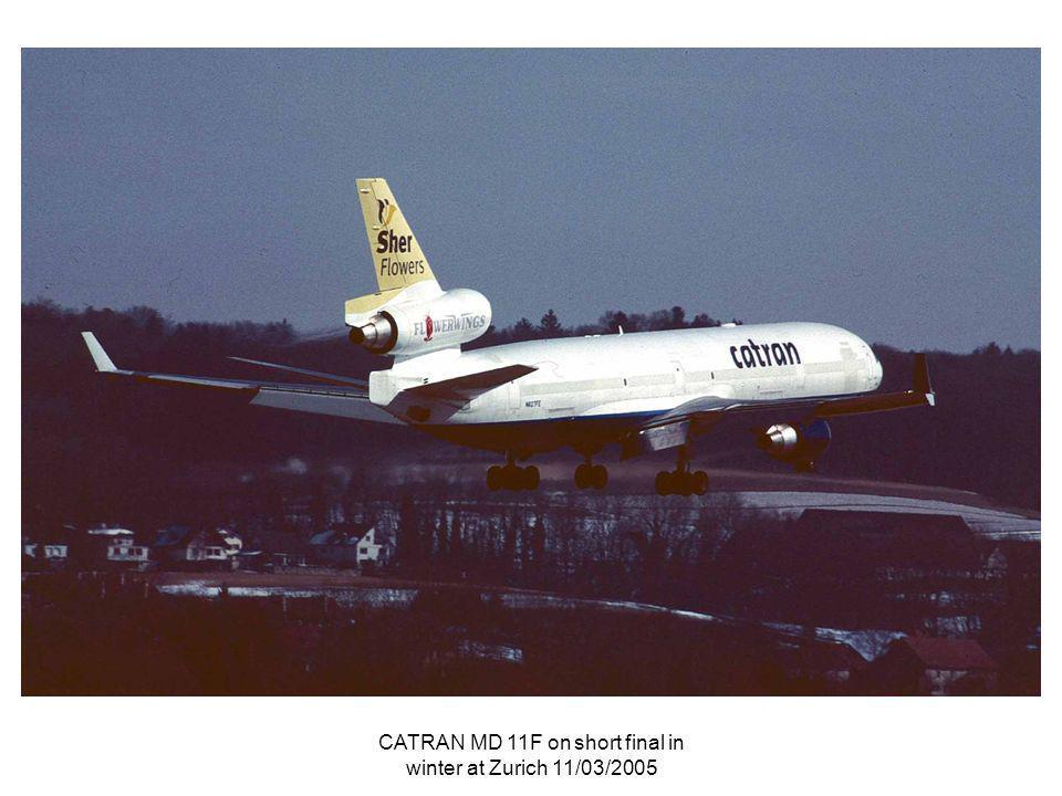 CATRAN MD 11F on short final in winter at Zurich 11/03/2005