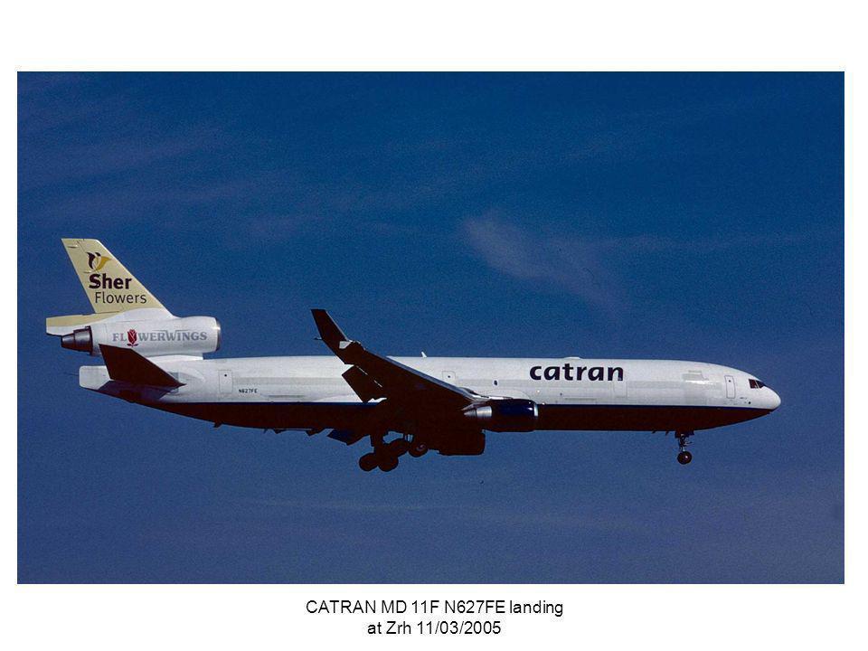 CATRAN MD 11F N627FE landing at Zrh 11/03/2005
