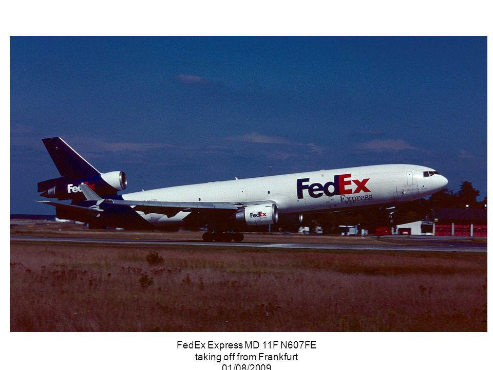 FedEx Express MD 11F N607FE taking off from Frankfurt 01/08/2009