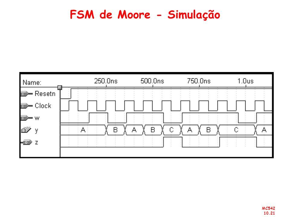 MC542 10.21 FSM de Moore - Simulação