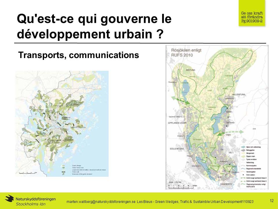 Qu est-ce qui gouverne le développement urbain .