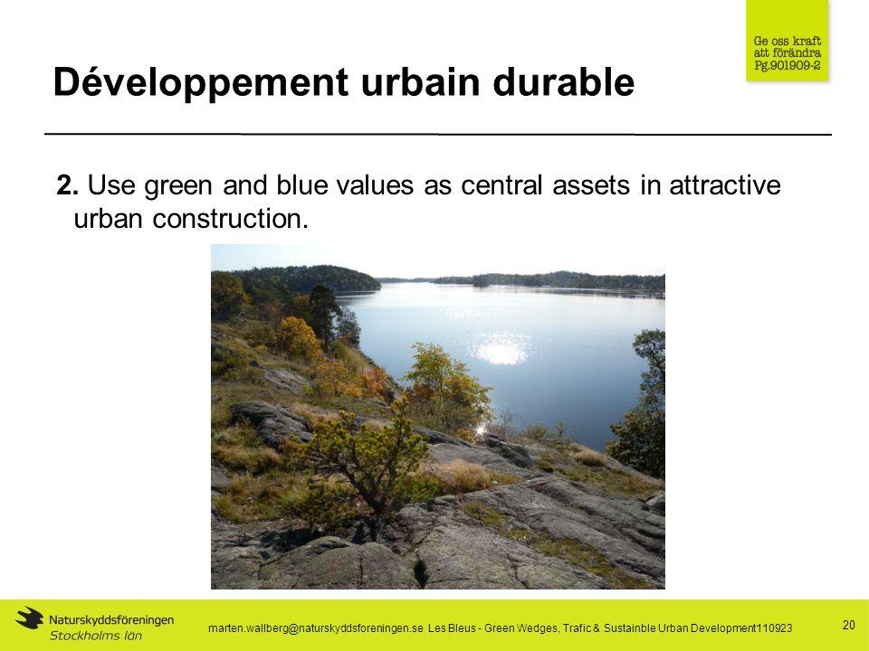 Développement urbain durable 20 2.