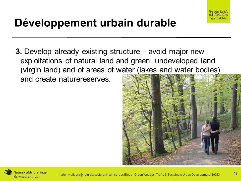 Développement urbain durable 21 3.