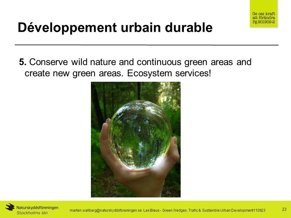 Développement urbain durable 23 5.