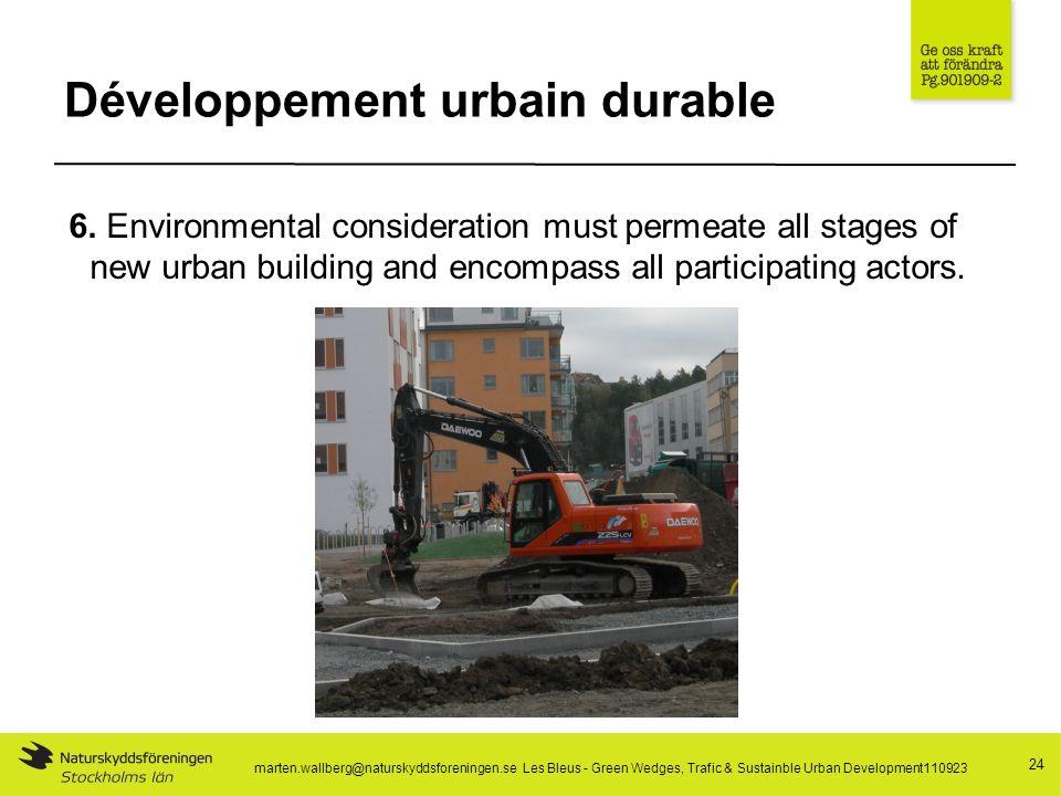 Développement urbain durable 24 6.