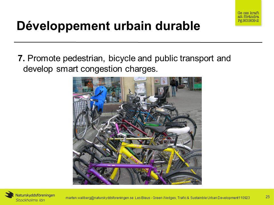 Développement urbain durable 25 7.