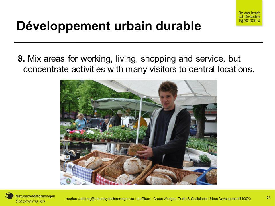 Développement urbain durable 26 8.