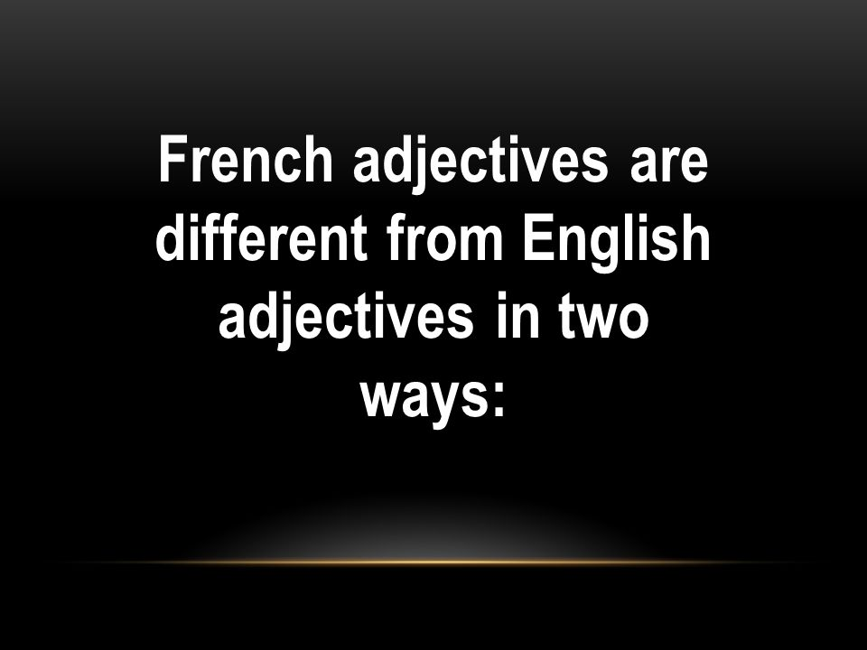 Here are some rules to help you with irregular adjectives.