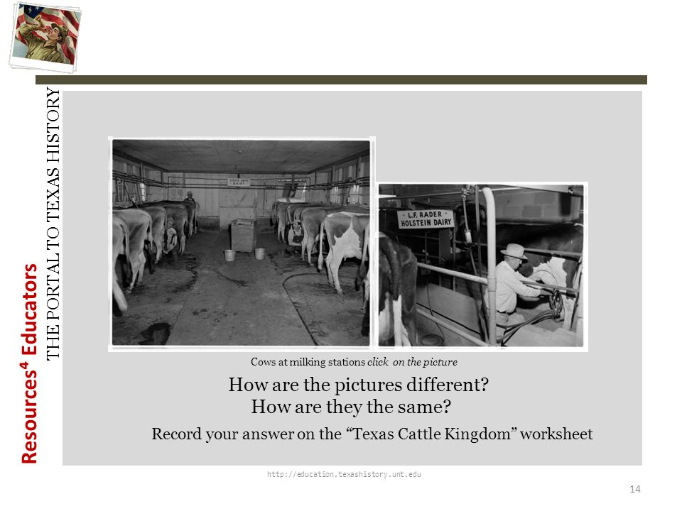 Resources Educators THE PORTAL TO TEXAS HISTORY http://education.texashistory.unt.edu Cattle branding equipment and the dehorning process in more curr