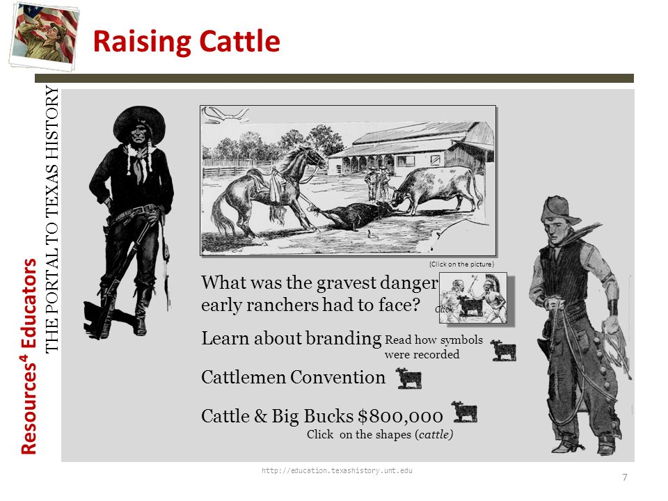 Resources Educators THE PORTAL TO TEXAS HISTORY http://education.texashistory.unt.edu A History of the Exhaustion of the Pasturage and Suggestions for