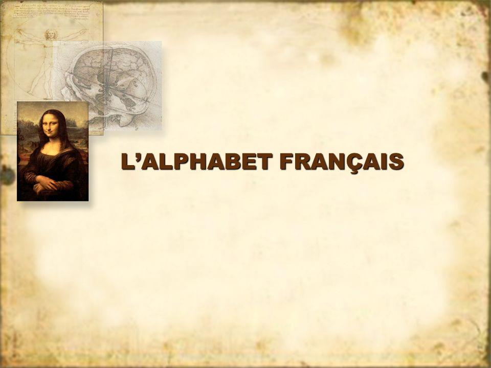 LALPHABET FRANÇAIS