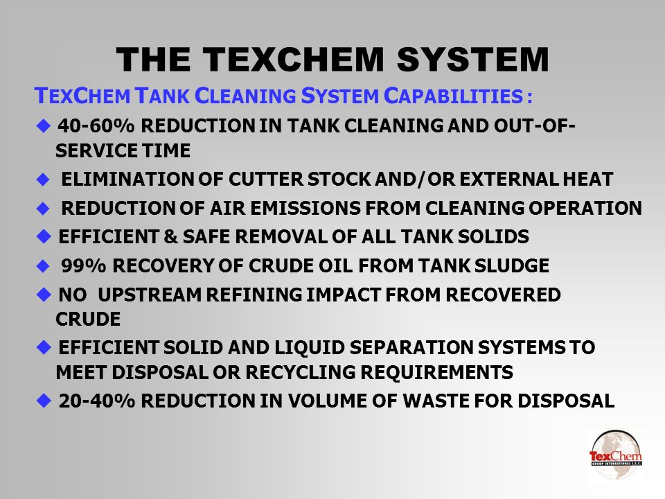 THE TEXCHEM SYSTEM C OMPARISON : P ROJECT C OMPLETION T IME