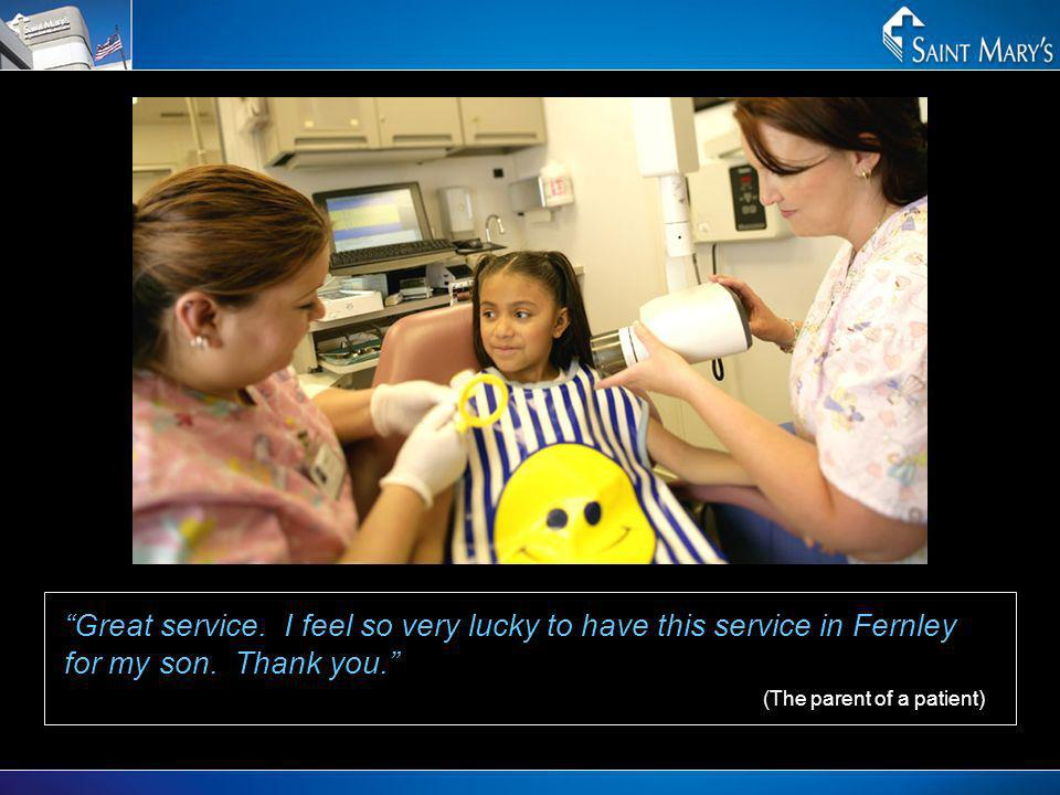 Great service. I feel so very lucky to have this service in Fernley for my son. Thank you. (The parent of a patient)