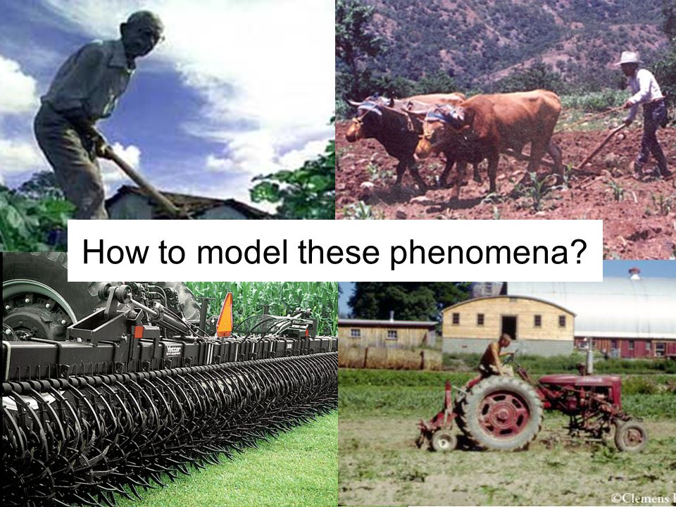How to model these phenomena