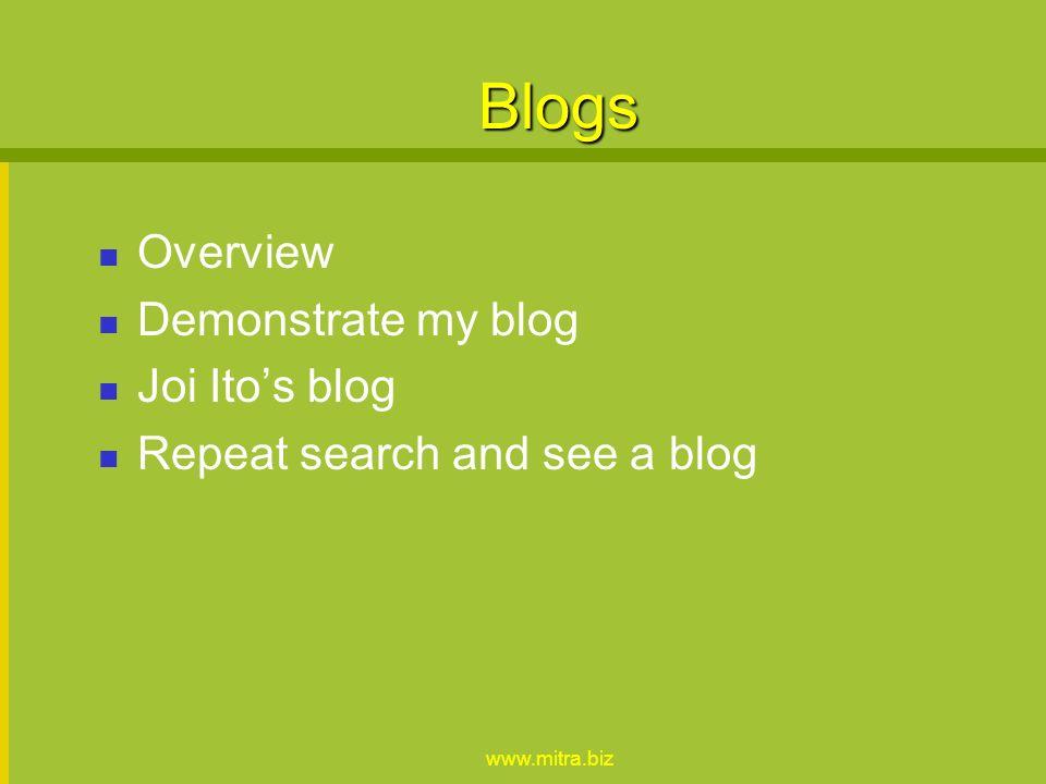 www.mitra.biz Advanced RSS Searches - technorati, feedster