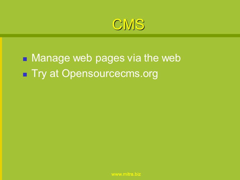 www.mitra.biz Wiki Wikipedia TikiWiki - wikicode SeedWiki - HTML / wysiwyg