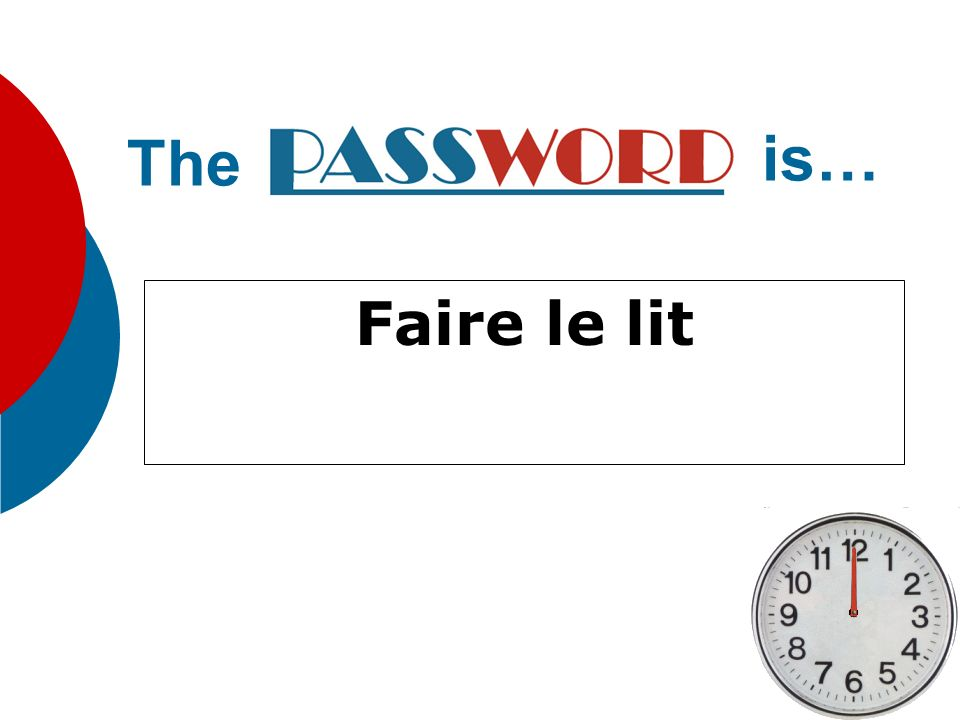 The is… Faire le lit