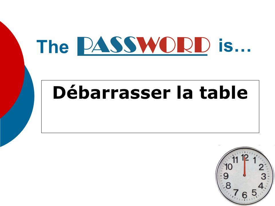 The is… Débarrasser la table