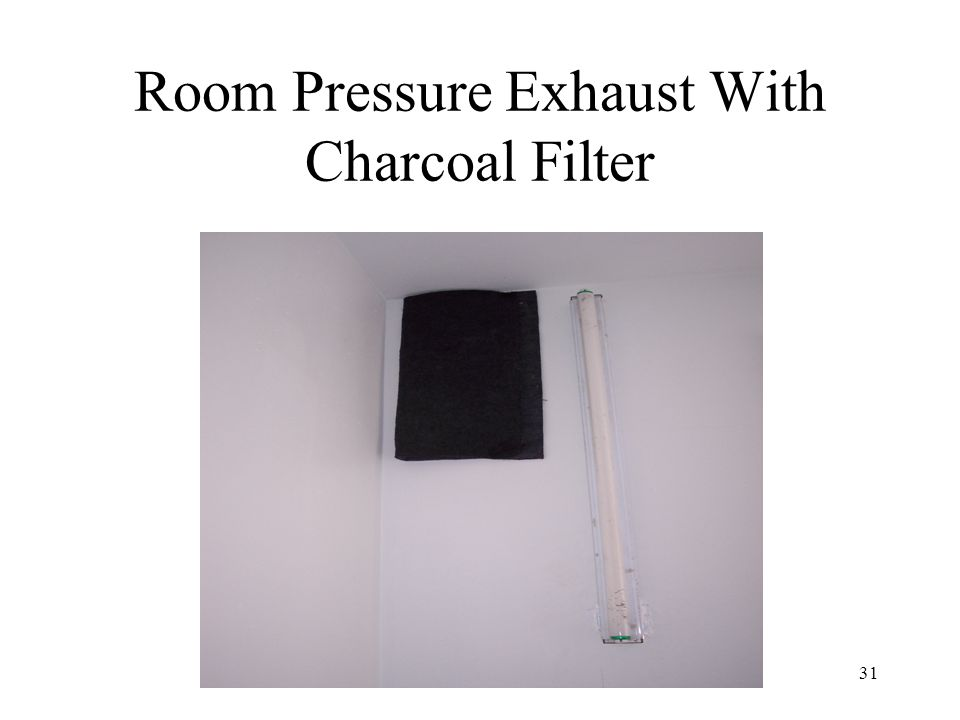31 Room Pressure Exhaust With Charcoal Filter