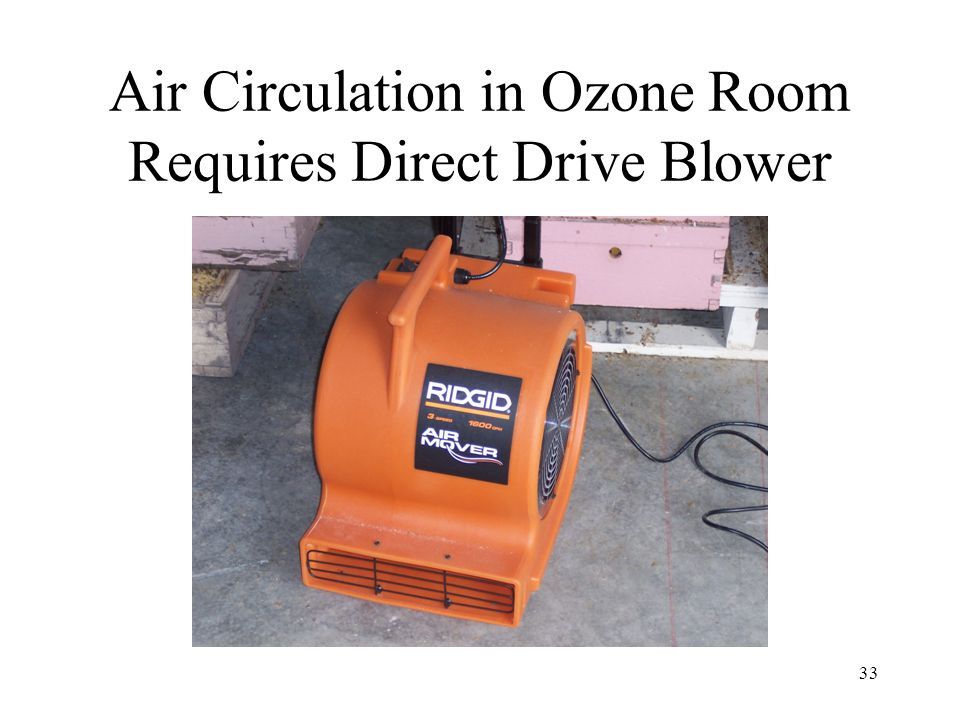 33 Air Circulation in Ozone Room Requires Direct Drive Blower