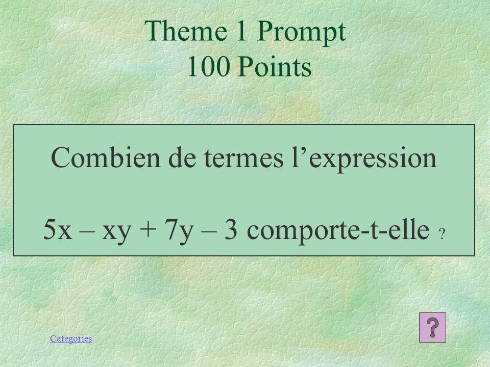 500 400 300 200 100 Diviser les polynômes Multiplier les polynômes Soustraire les polynômes Additionner les polynômes La vocabulaire des polynômes