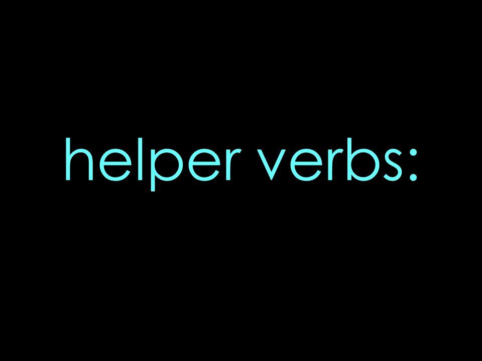 helper verbs: