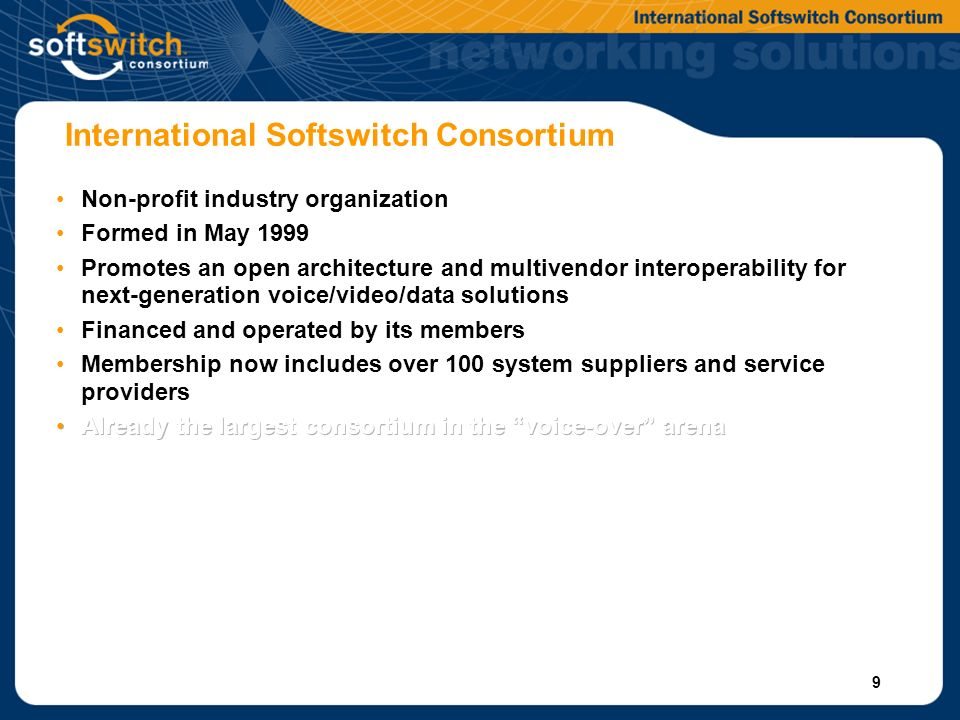 9 International Softswitch Consortium