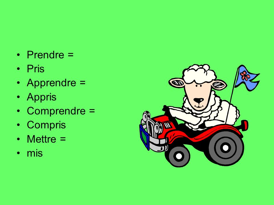 In the perfect tense most verbs take the auxiliary verb Avoir But some take Être- To help you learn which verbs take être you can memorise the mnemonic MRS VANDER TRAMP