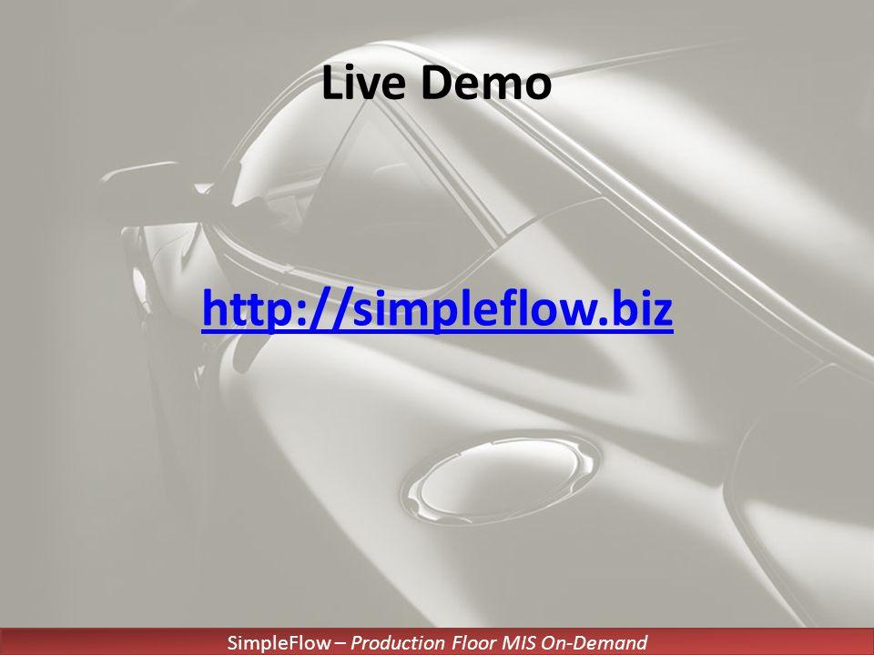SimpleFlow – Production Floor MIS On-Demand Live Demo http://simpleflow.biz