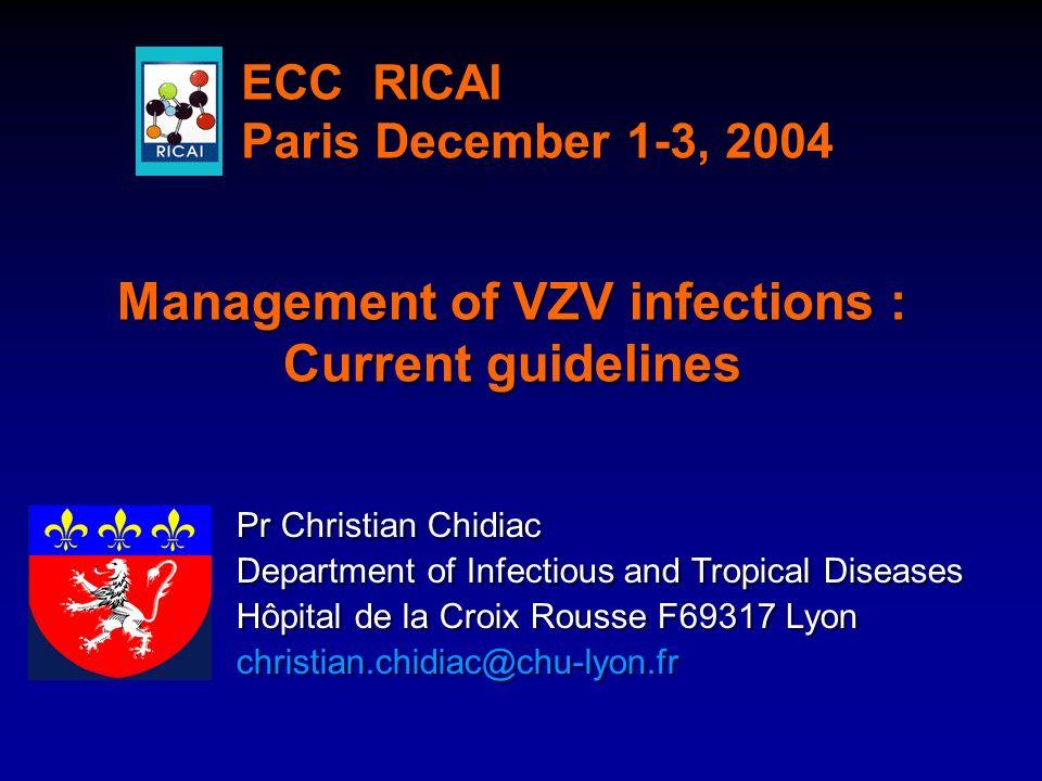 Pr Christian Chidiac Department of Infectious and Tropical Diseases Hôpital de la Croix Rousse F69317 Lyon christian.chidiac@chu-lyon.fr Pr Christian