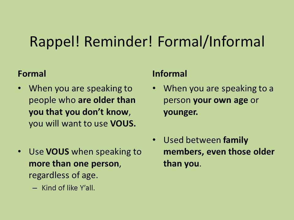 Rappel. Reminder.