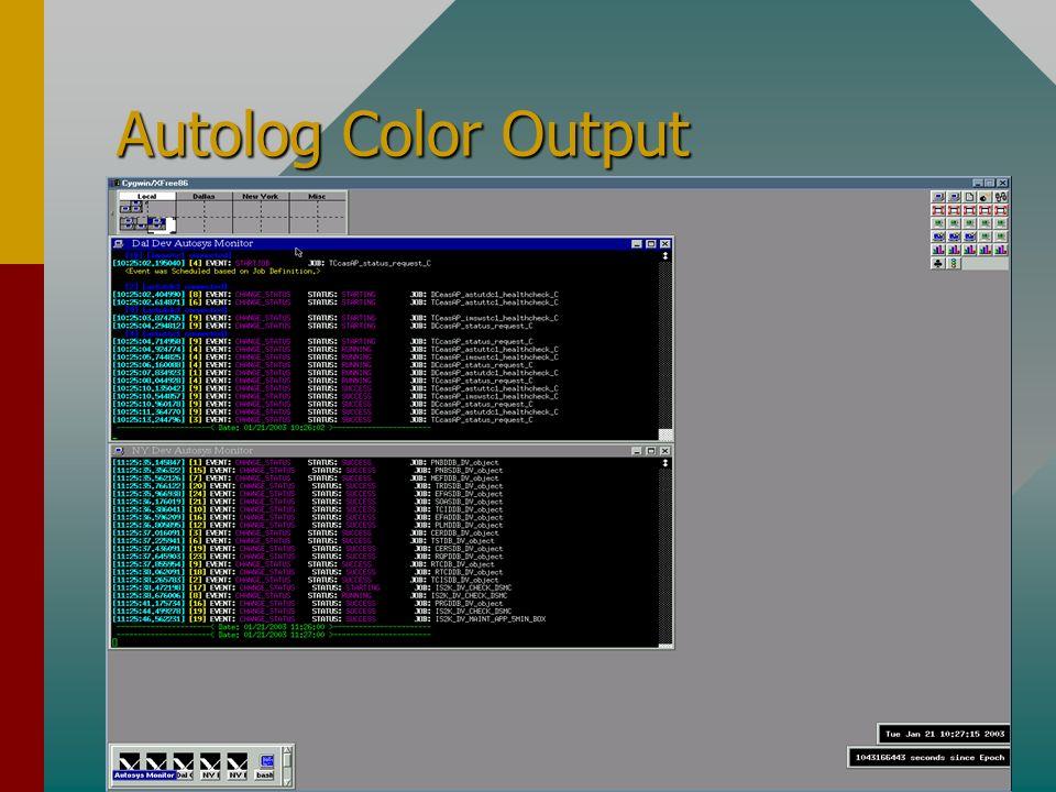 Autolog Color Output