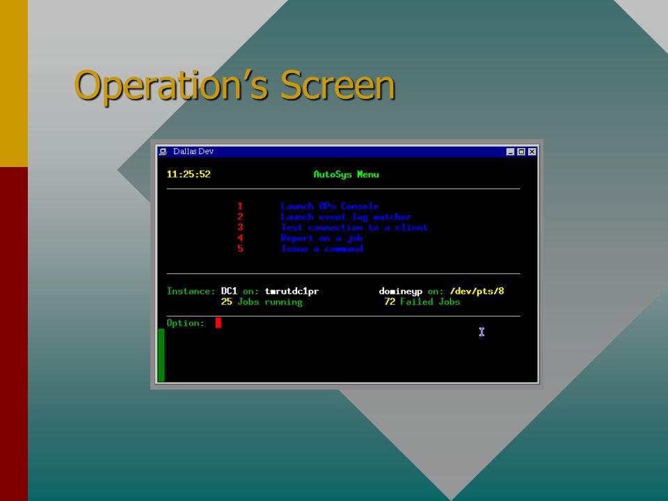 Operations Screen