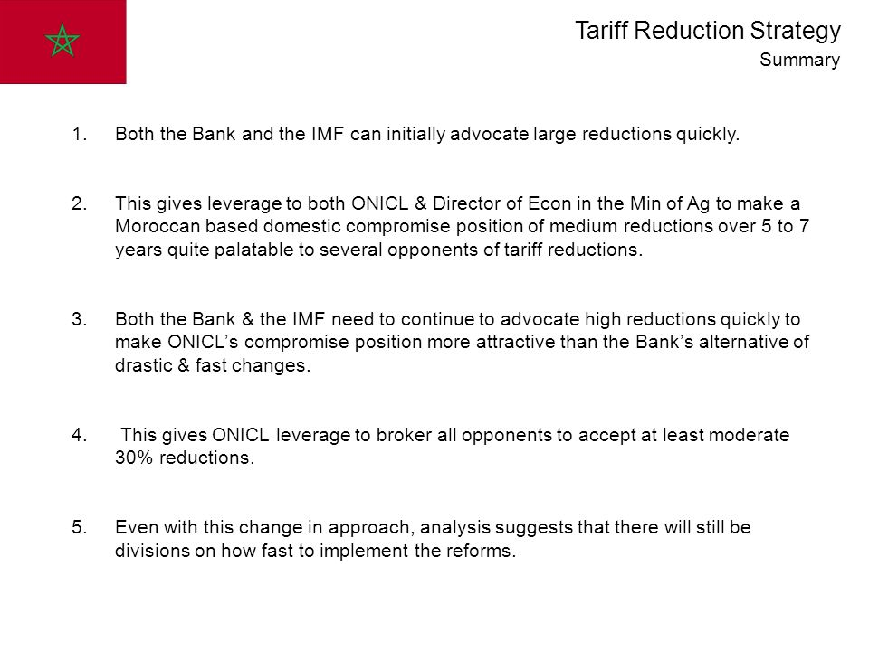 1.Both the Bank and the IMF can initially advocate large reductions quickly.