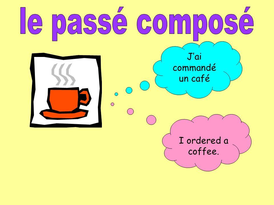 There are three ingredients to the passé composé 1.The person or pronoun (je, tu, il elle, nous, vous, ils/elles 2.The part of the helper/auxiliary verb AVOIR (or ÊTRE in a few cases).
