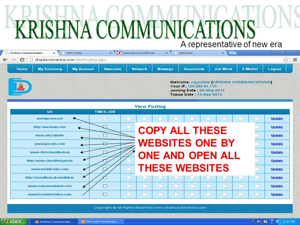 A representative of new era COPY ALL THESE WEBSITES ONE BY ONE AND OPEN ALL THESE WEBSITES