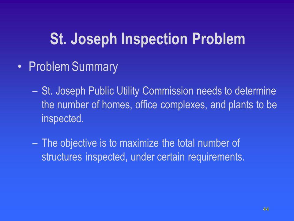 44 Problem Summary –St.
