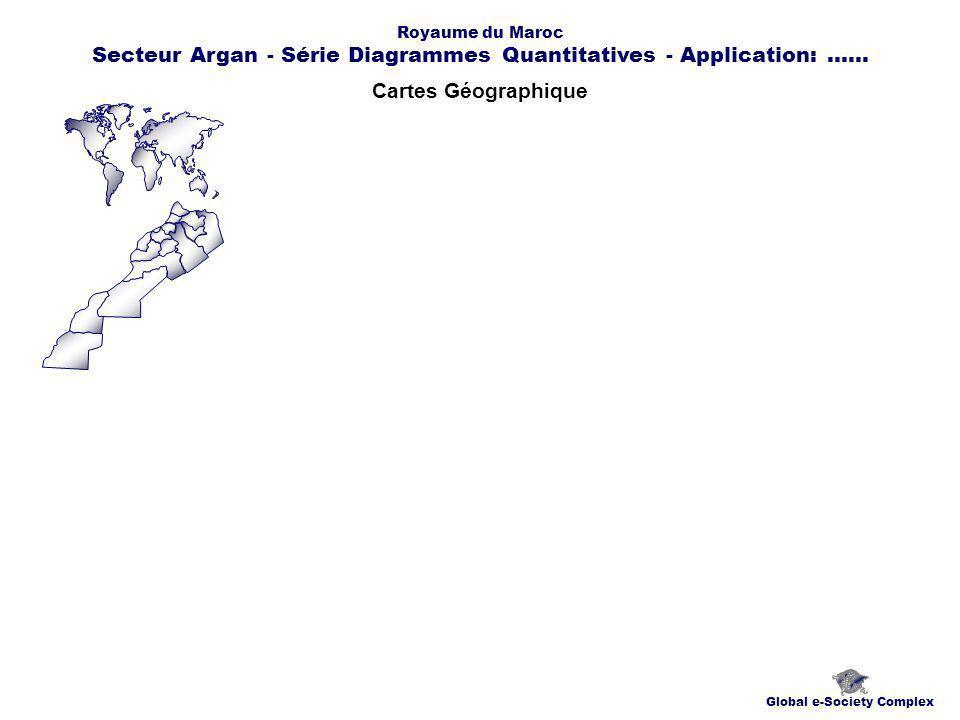 Cartes Géographique Global e-Society Complex Royaume du Maroc Secteur Argan - Série Diagrammes Quantitatives - Application:......