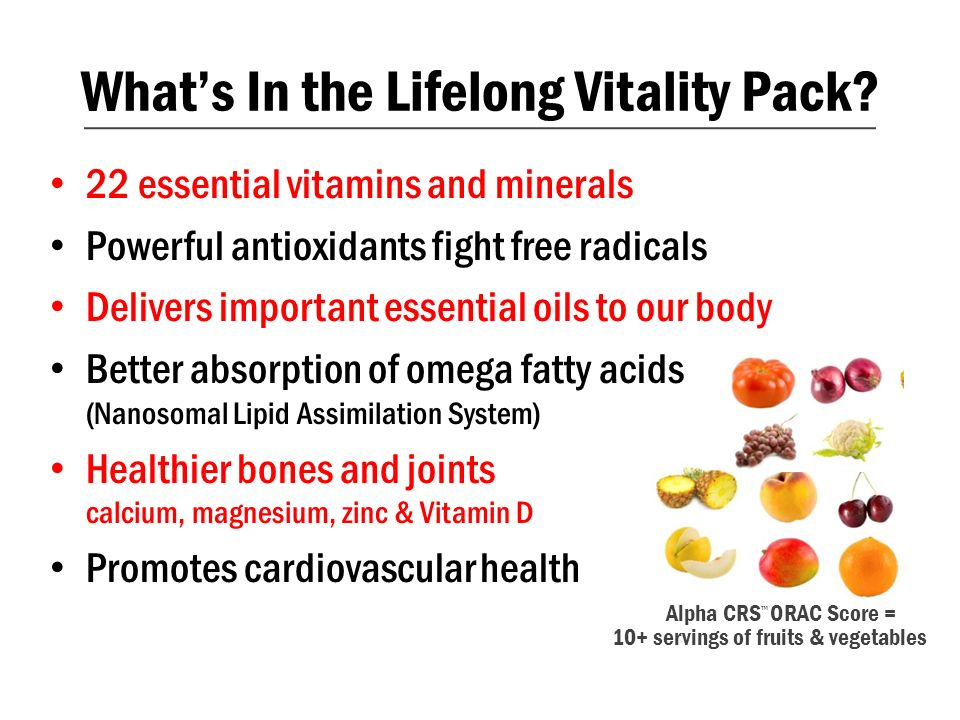 22 essential vitamins and minerals Powerful antioxidants fight free radicals Delivers important essential oils to our body Better absorption of omega