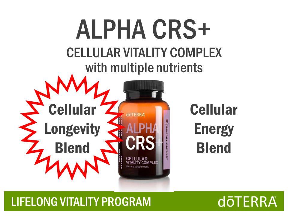 LIFELONG VITALITY PROGRAM ALPHA CRS+ CELLULAR VITALITY COMPLEX with multiple nutrients Cellular Longevity Blend Cellular Energy Blend